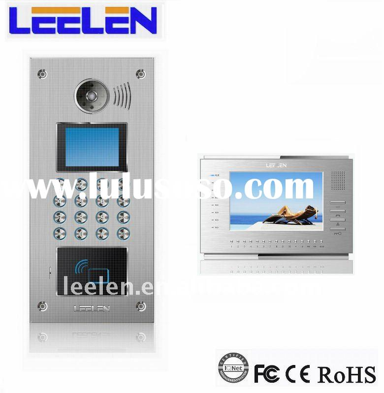 7 Inch TFT-LCD wired video intercom for building