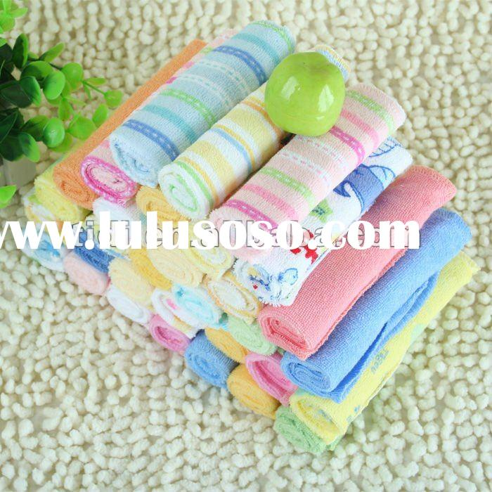 80% cotton 20% polyester Terry Baby wash cloth