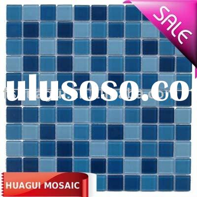 Blue color glass mosaic wall tile/swimming pool tile