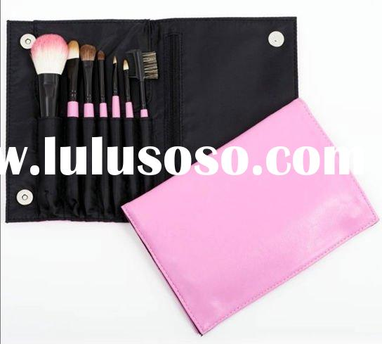 Cute hot pink makeup brush set
