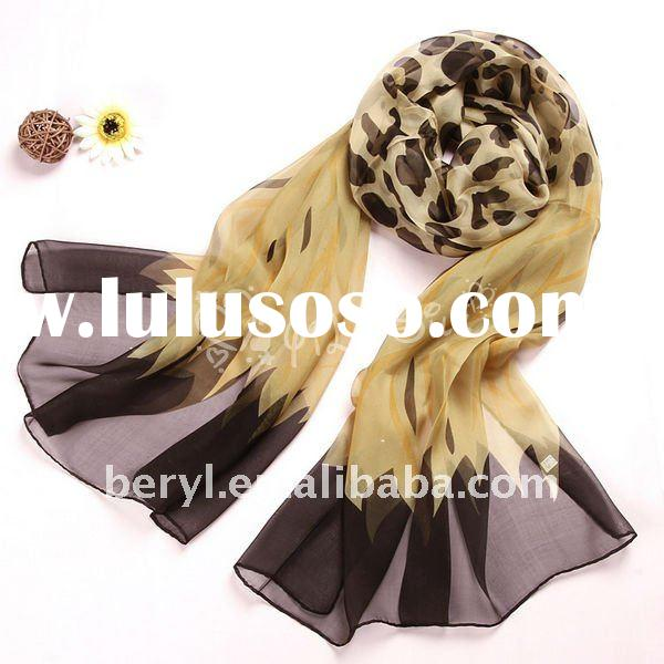 Fashion bulk silk scarves