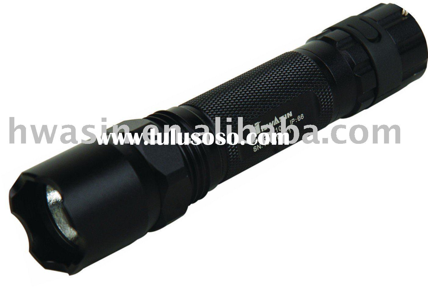 HX-ZB6110 Police Use Intense Flashlight, White-light LED with super-high brightness and power