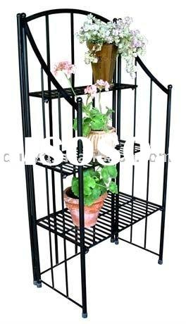 Iron folding cheap plant stand for garden CE certificate