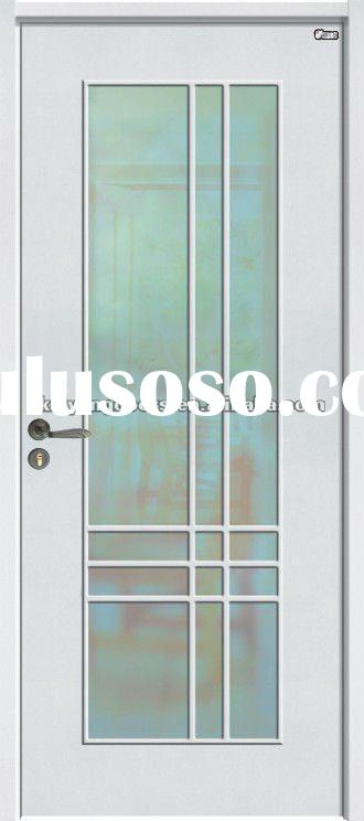 Kaiyang white primed hollow core HDF Molded glass door