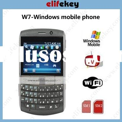 MFU W7 windows6.5 WIFI TV Java 3g dual sim windows mobile