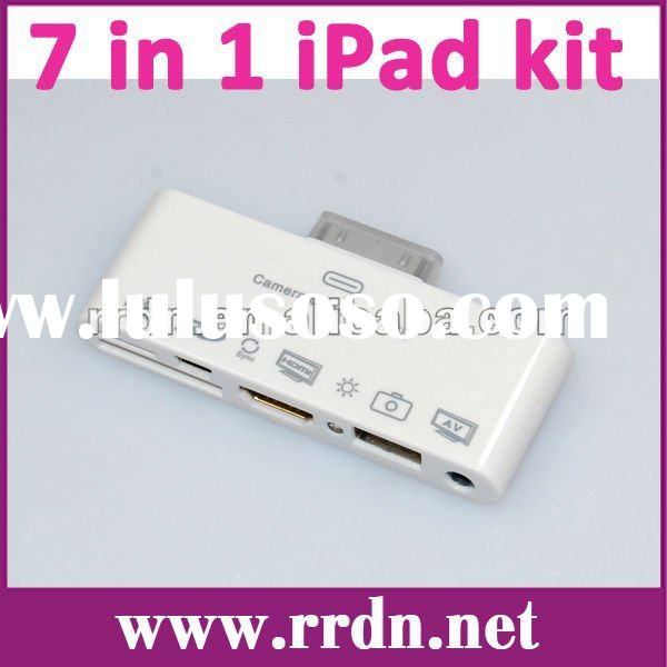 New AV 7in1 camera connection kit card reader IOS5 1080P HDMI iRC-08