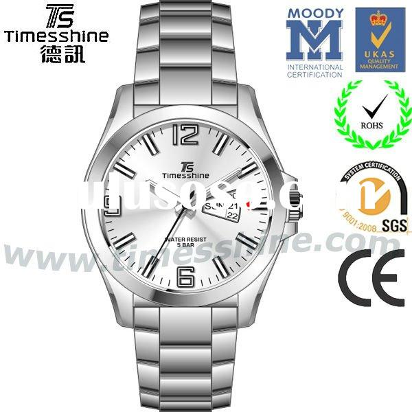ODM&OEM brand watches with stainless steel band and case