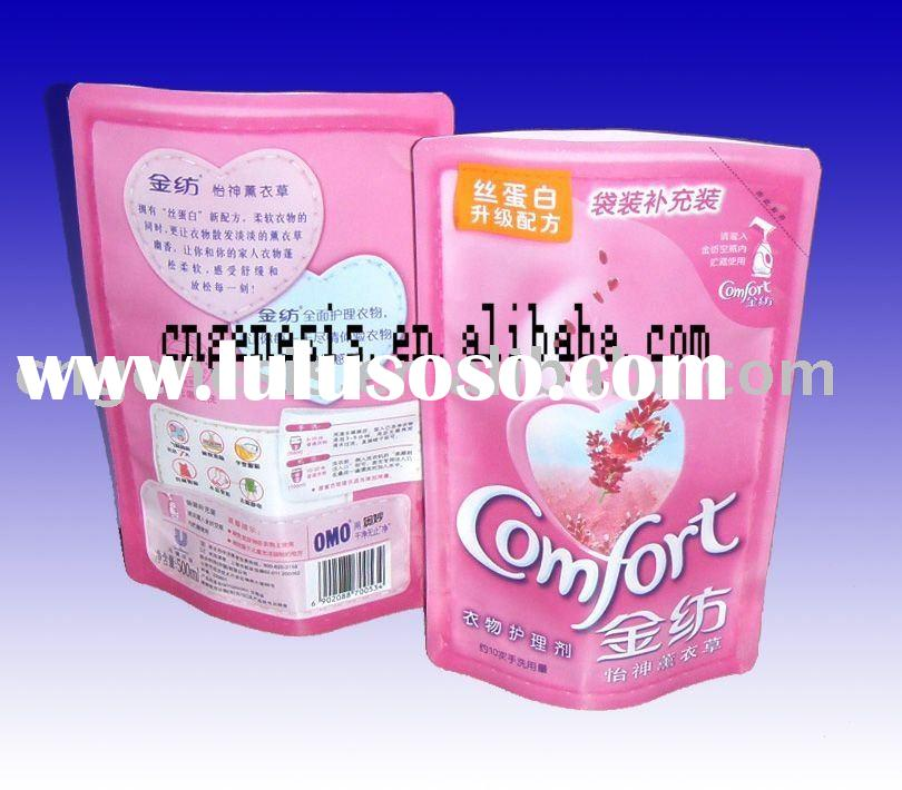 Pink laundry detergent bag /washing powder pouch