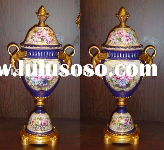 Prize Cup w.Vine Handle, hand painting,porcelain products, home decoration, MOQ:1PC