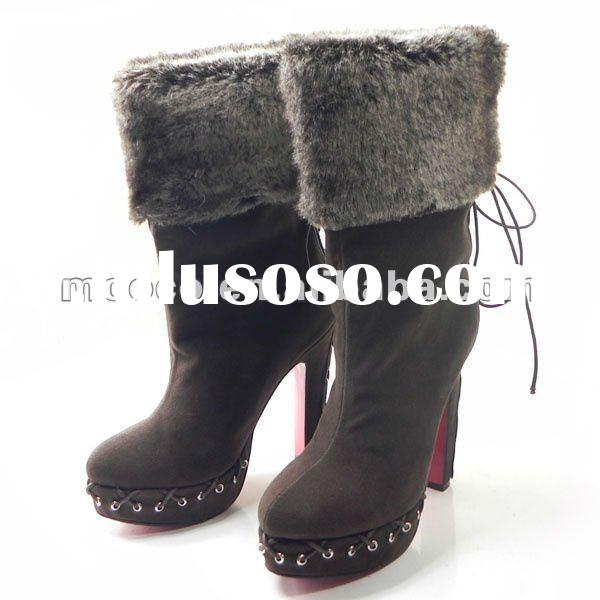 Red sole high heels snow boots women 2012