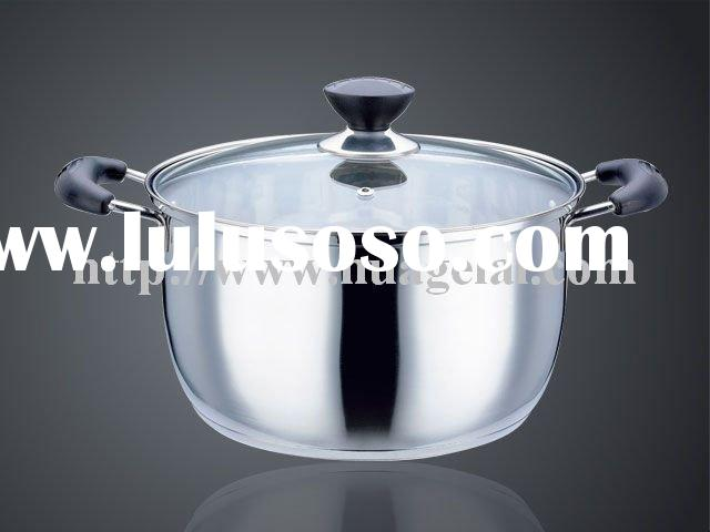 SAND POLISH Korean Style Stainless Steel Insulated Casserole Stockpot Cookware Cooking Pot