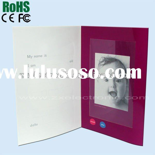 baby voice recording greeting card with photo frame