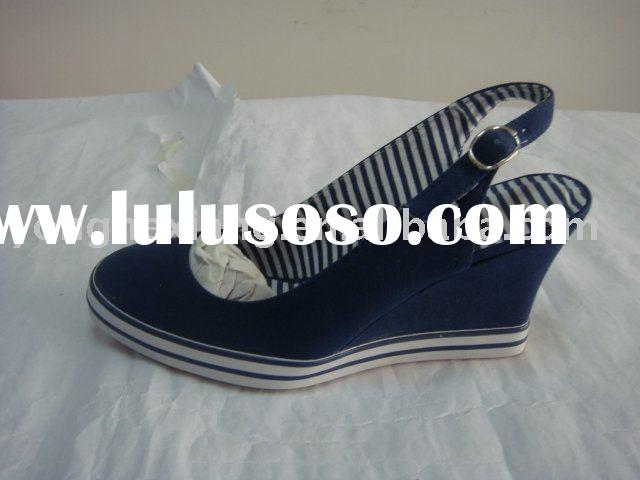 canvas shoes wedge sneaker lady fashion shoes