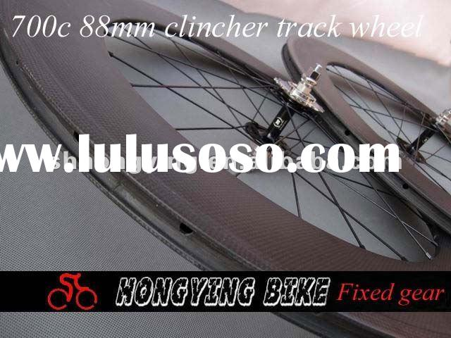 carbon fixed gear wheel,bicycle carbon track wheels 88mm