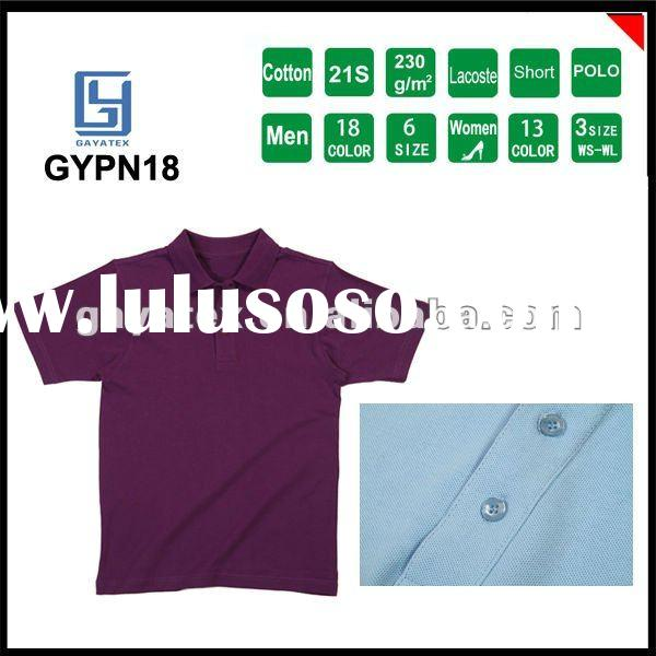 cheep 2012 cotton 230g lacoste commercial blank custom design knitted free sample gents fashion shir