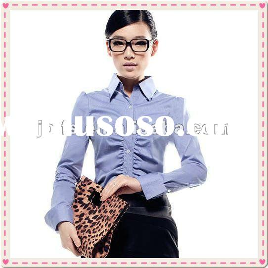 fashionable office lady long sleeve working blouse