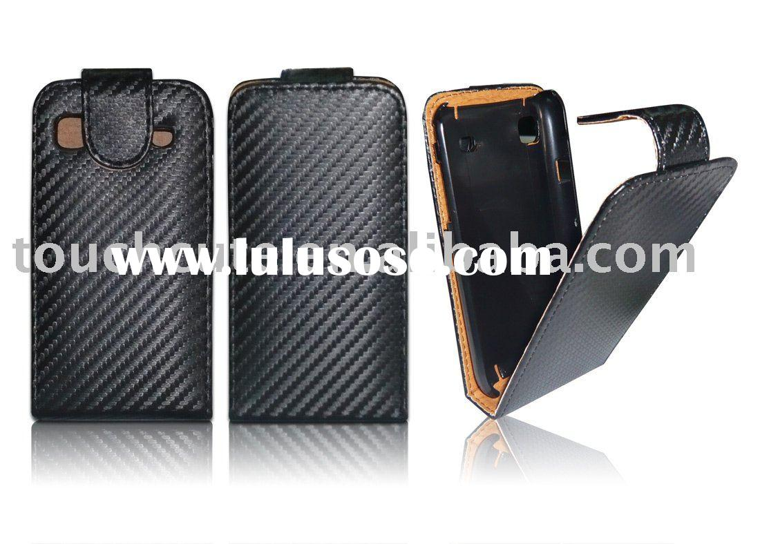 for Samsung Galaxy S/ i9000 carbon fiber flip leather case##TC-ISS-L008
