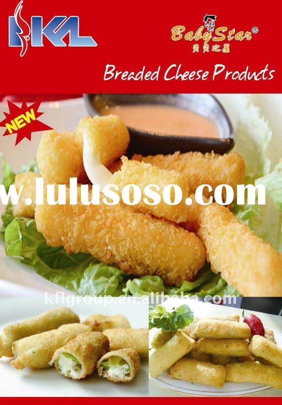 prefried breaded mozzarella sticks