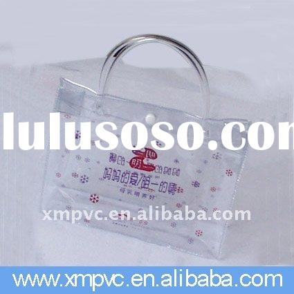 pvc advertising clear beach bag for cosmetic in button XYL-D-H124
