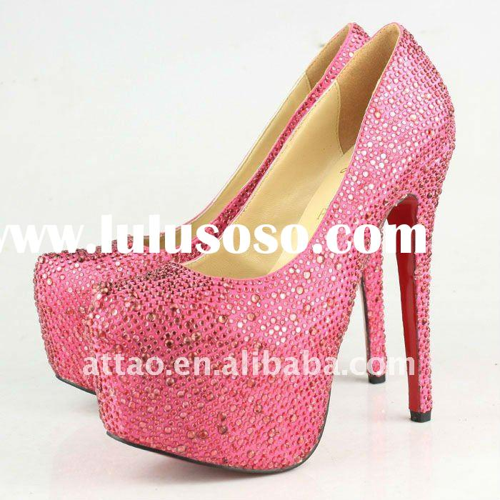 red diamond platform shoes high heel