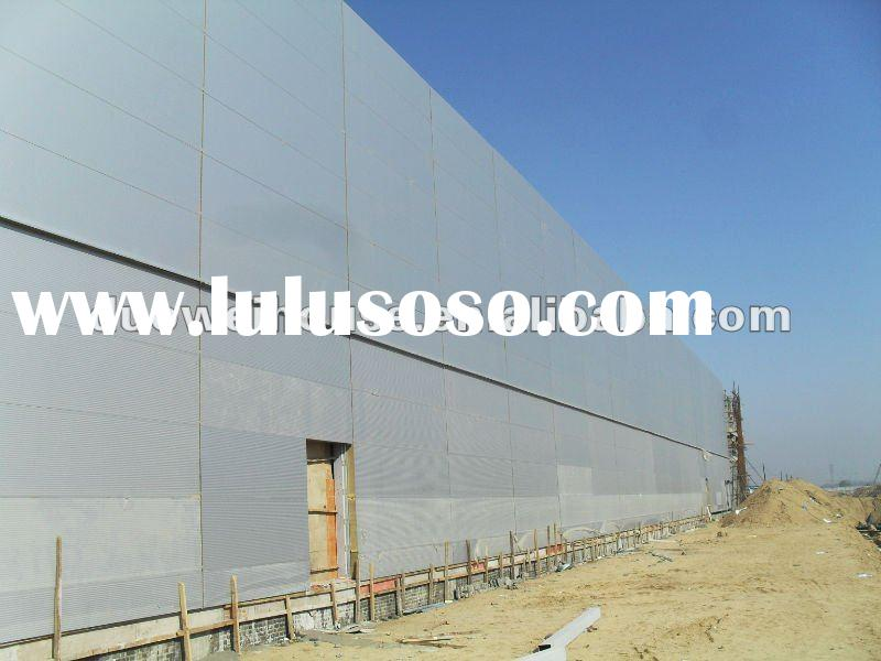 steel structure warehouse with sandwich panel wall