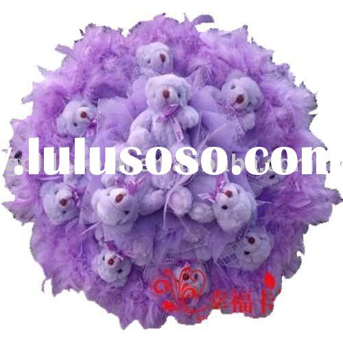 toy bouquet wedding gift valentine's gift with plush teddy bear toy decor