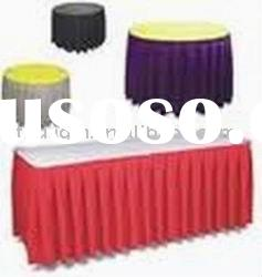 wedding table skirting polyester table skirt with top covers