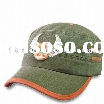 100% Cotton Military Hat with Garment Wash, Available in Olive Green
