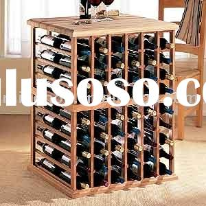 108 bottles table wine rack with table design ,made of pine