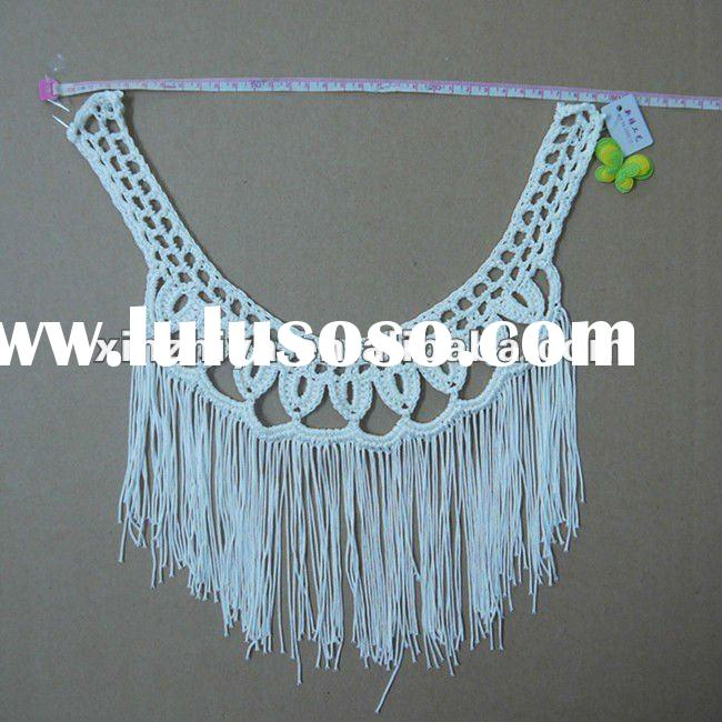 2012 embroidery handmade crochet neck lace collar in apparel