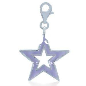 2012 fashion alloy plated with purple enamel trendy star dangle charm or pendant DH185295