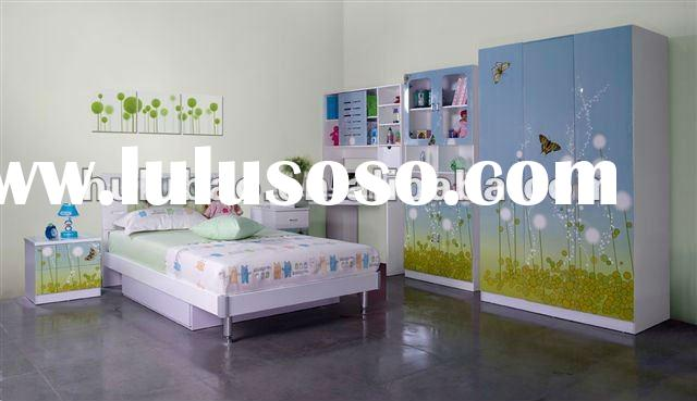 2012 new design best seller MDF high glossy finish bedroom furniture for girls