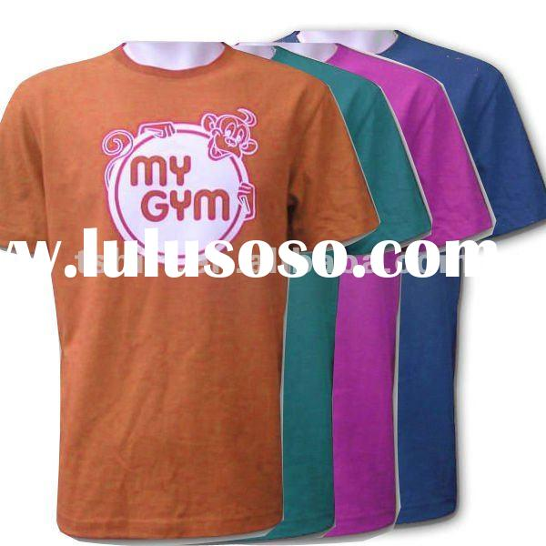 50% cotton 50% polyester men t-shirts printing