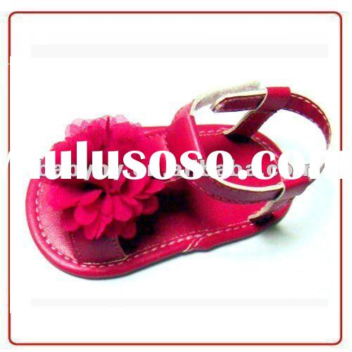 Best Seller Hot Pink Flower Girls Baby Sandals
