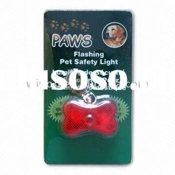 Bone-shaped LED Flashing Pet/Dog ID Tag