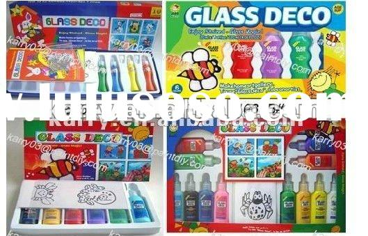 Glass Deco ,art kits, window paint, diy painting toys