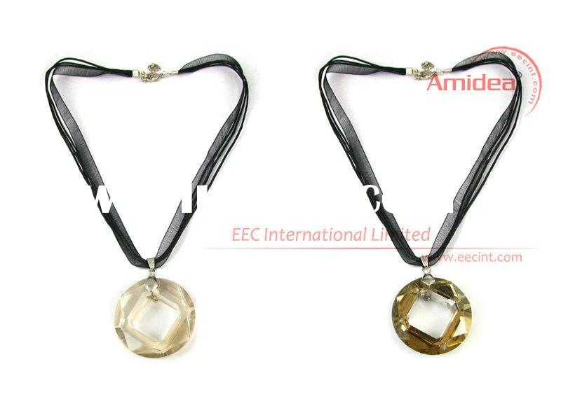 Hot promotional gifts jewelry silk necklace ribbons EPN0005