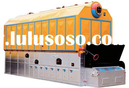 Industrial double drum chain grate coal fired steam boiler& full-automatic coal fired boiler for
