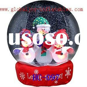Inflatable airblown/ Blowups Christmas Decorations 3 Snowman Globe HC-097