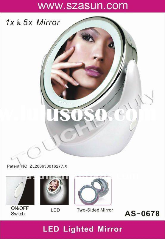 LED Light Makeup Mirror ,lighted magnifying makeup mirror, makeup mirror with led light
