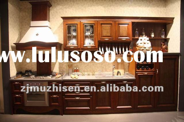 Latest Design Solid Wood Kitchen Cabinet