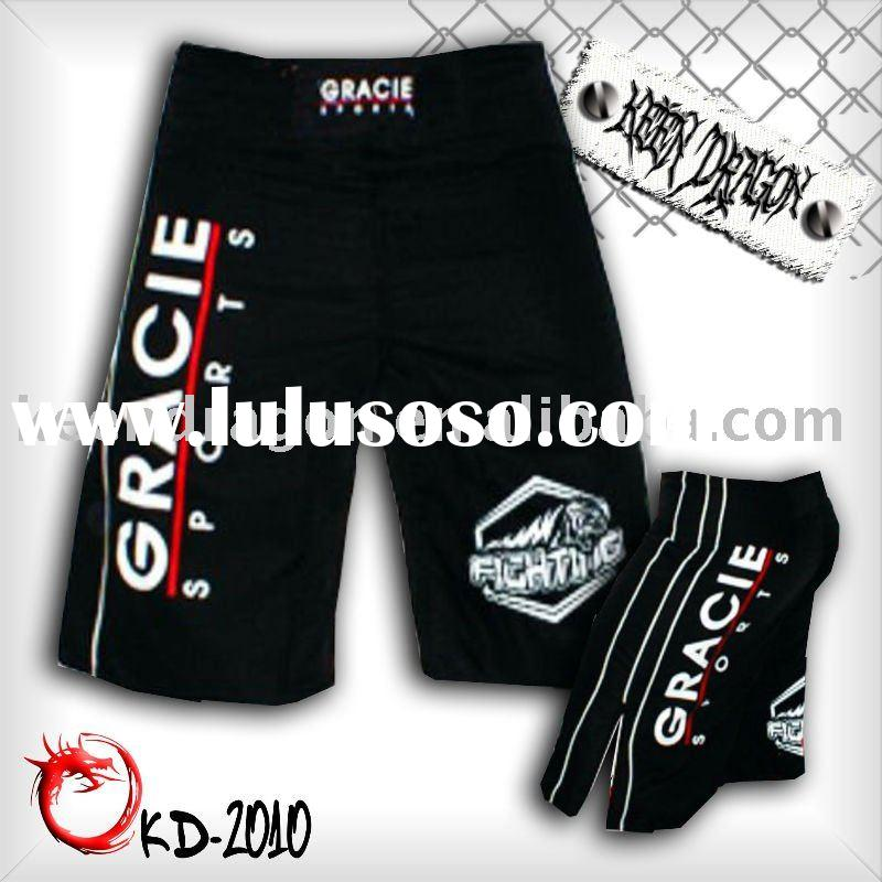 OEM apparel 4-way stretch printed customized mma shorts