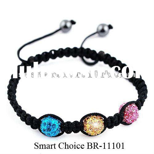 Shamballa bracelet in multi color