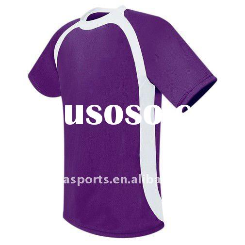 purple sports tee shirt with white neck and white piping ladies fashion design 2011-12