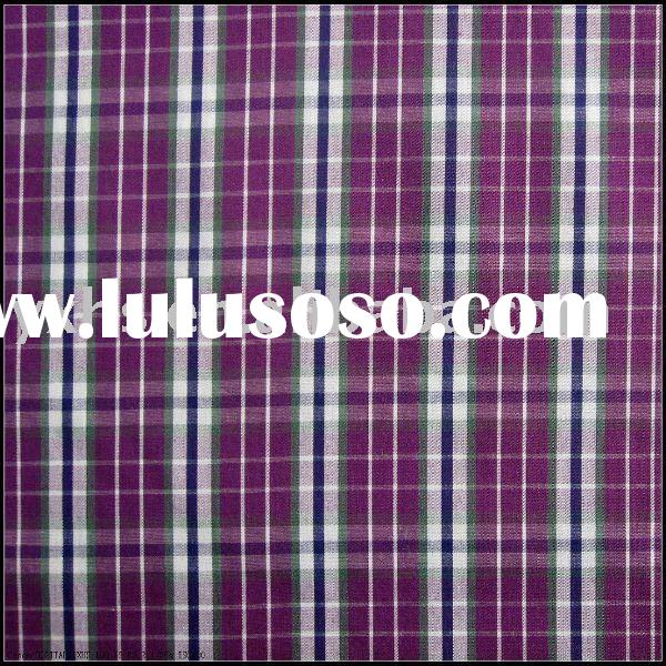 100% Cotton Yarn-dyed Plaid Fabric