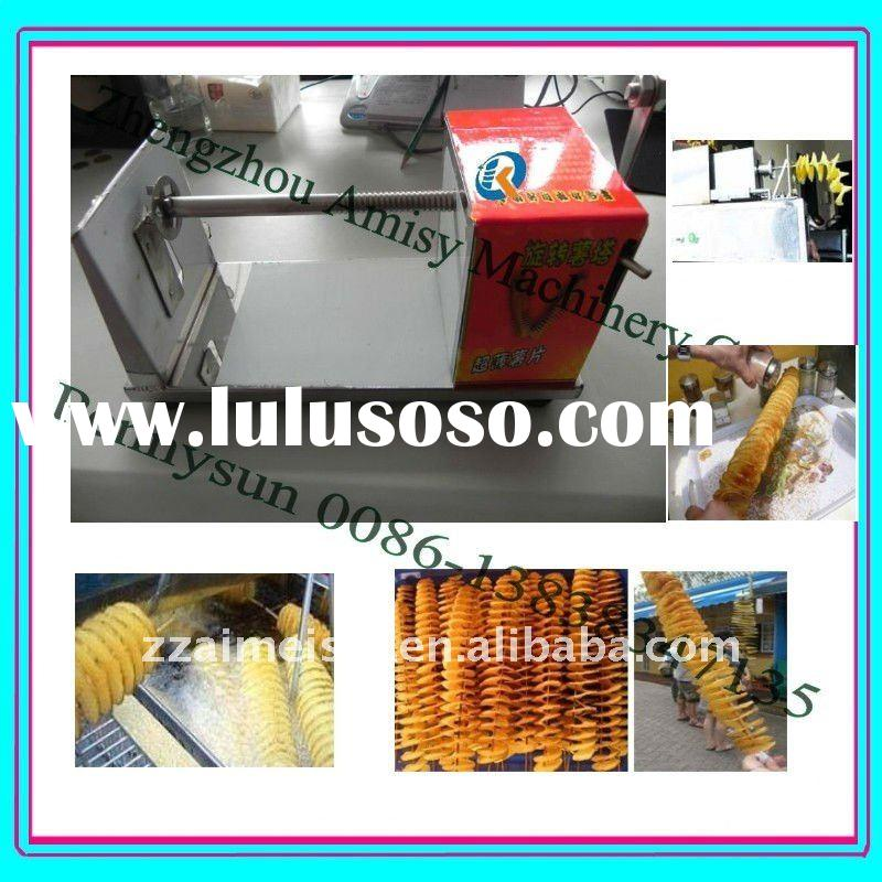 2011 hot selling stainless steel manual potato twist machine(0086-13838347135)