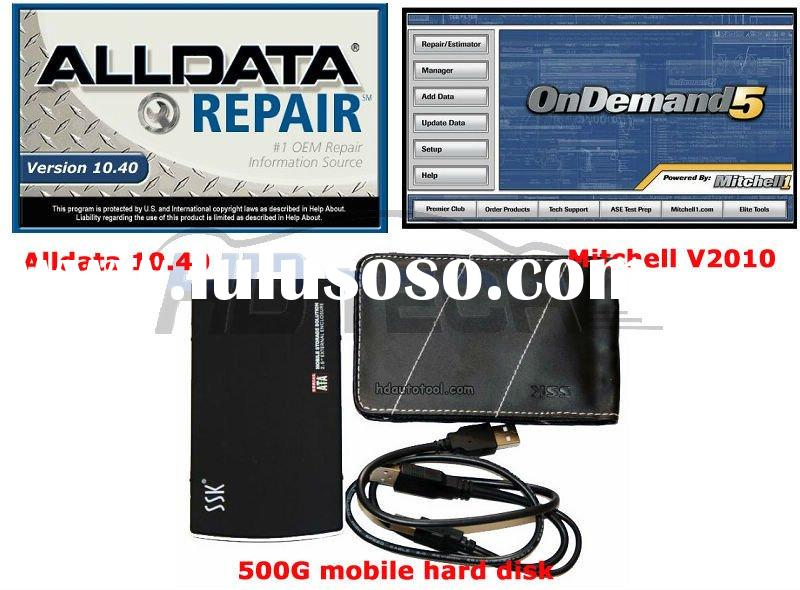 2011 latest arrival Alldata Version 10.40 and Mitchell V2010 with 500GB Hard Disk