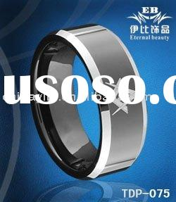 2011 new tungsten carbide ring, tungsten carbide masonic rings with black plated in paypal