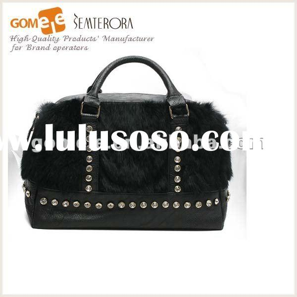 2012 Fashion Leather Lady Handbag/The world professional genuine leather bag factory