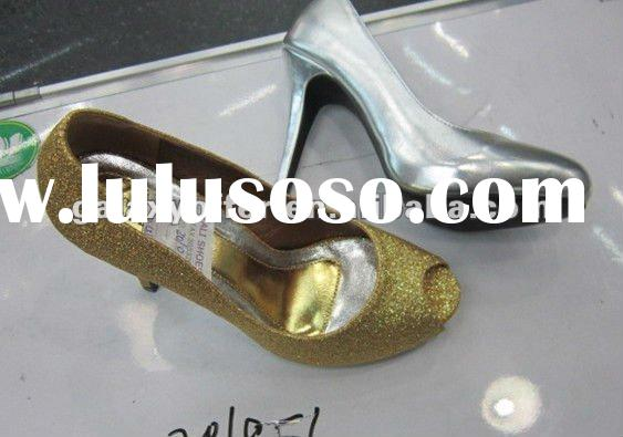 2012 NEW Cheap OEM silver & golden lady high heels shoes women's high heeled dance shoes